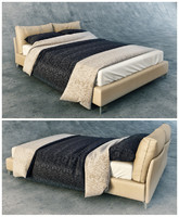 3d model of bedcloth bed ligne roset