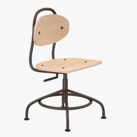 3d ikea kullaberg chair model
