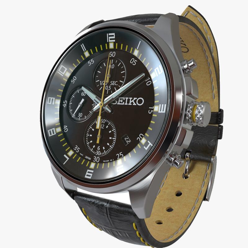 3d watch seiko model