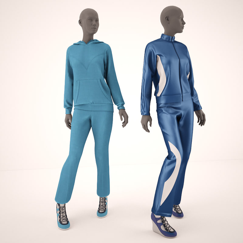 mannequins clothes shops 3d model