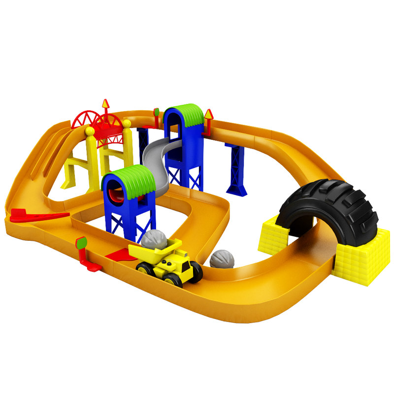 3d max track toy race