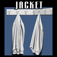 Jacket on coat rack