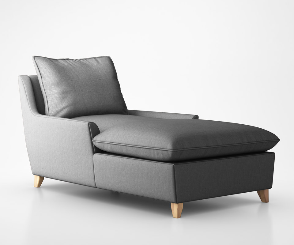 bliss down-filled chaise 3d model