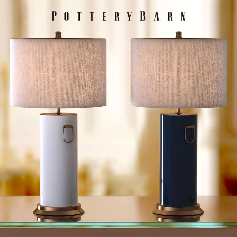 bed lamp 2 3d model