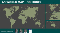 3d world planisphere