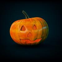 3d carved halloween pumpkin model