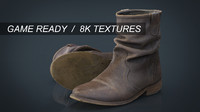 hd shoes 8k obj