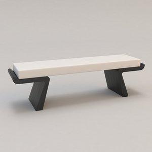 calme plat bench christian 3d max