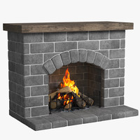 3d max fireplace place