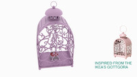 3d model outdoor lantern - candle lights