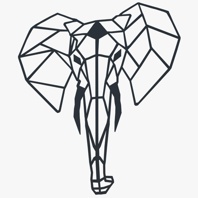 metal wall art elephant max