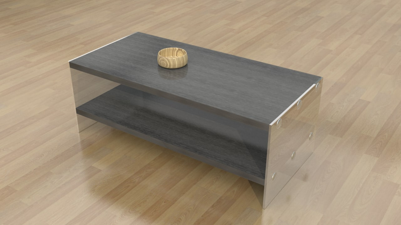 3d model arete modern coffee table
