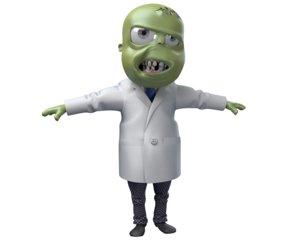 3d model zombie toon