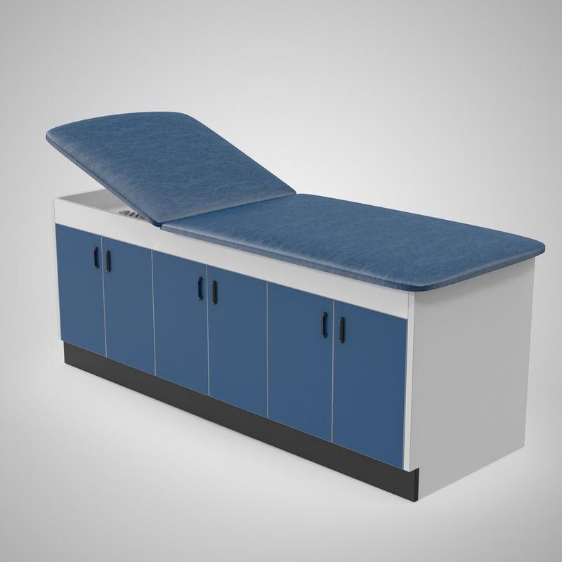 3d model laminate exam table