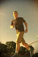 3d male jogging