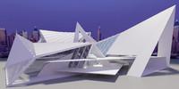 modern futuristic 3d model