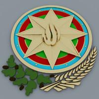 3d model coat azerbaijan