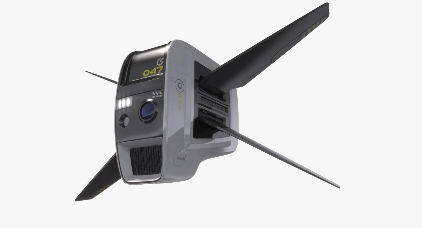 concept sci-fi drone obj