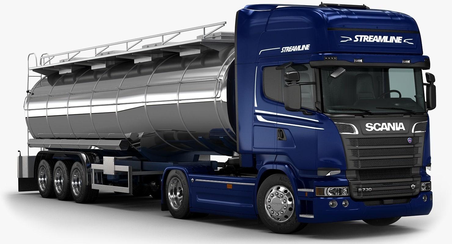 3d model 2016 scania r730 fuel