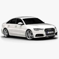 2017 audi a6 interior 3d model