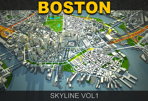 3d 3ds boston skyline