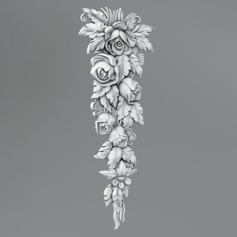 classical decoration 3d max