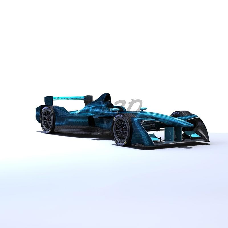 formula e 3d model