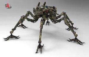 army robot robo 3d model