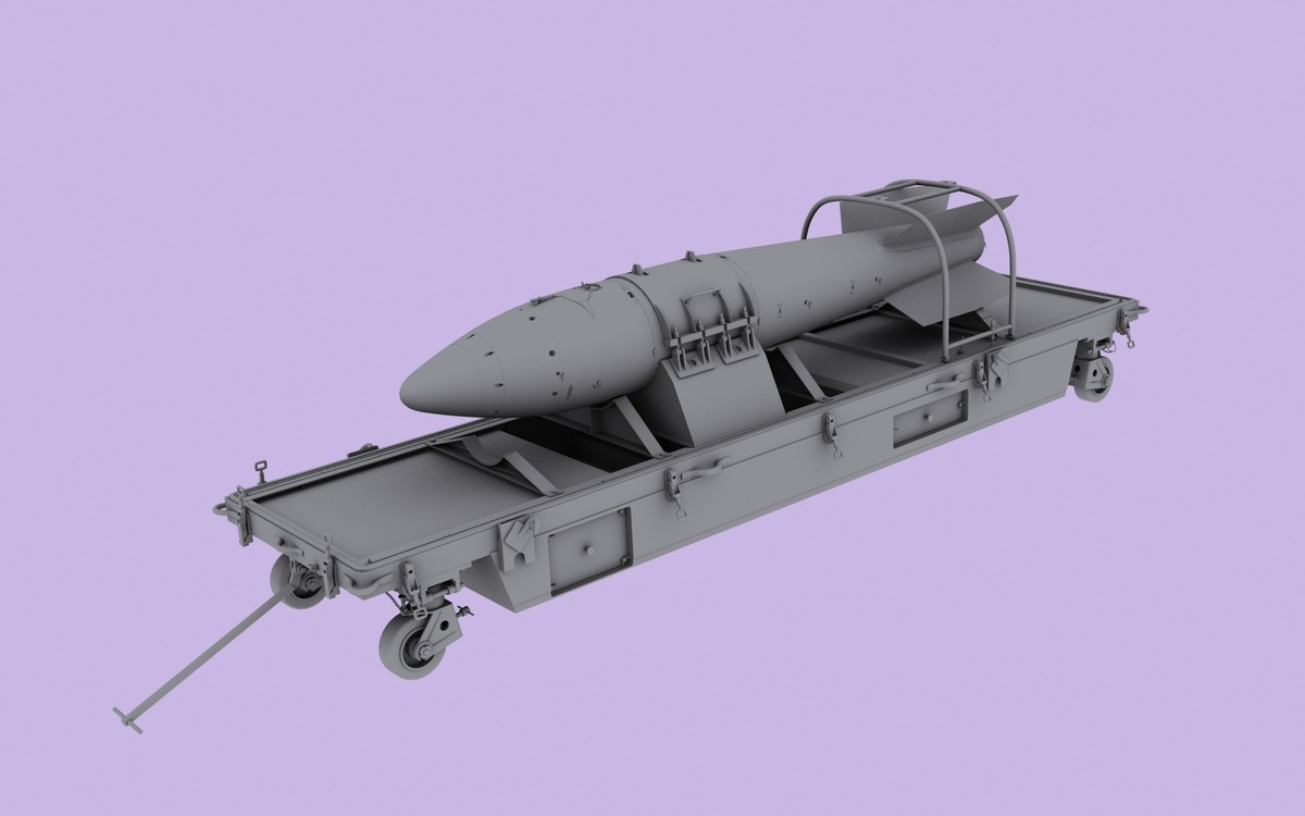 rn-28 russian tactical nuclear bomb 3d model