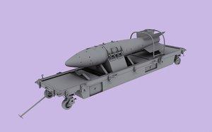 rn-28 russian tactical nuclear bomb 3d model