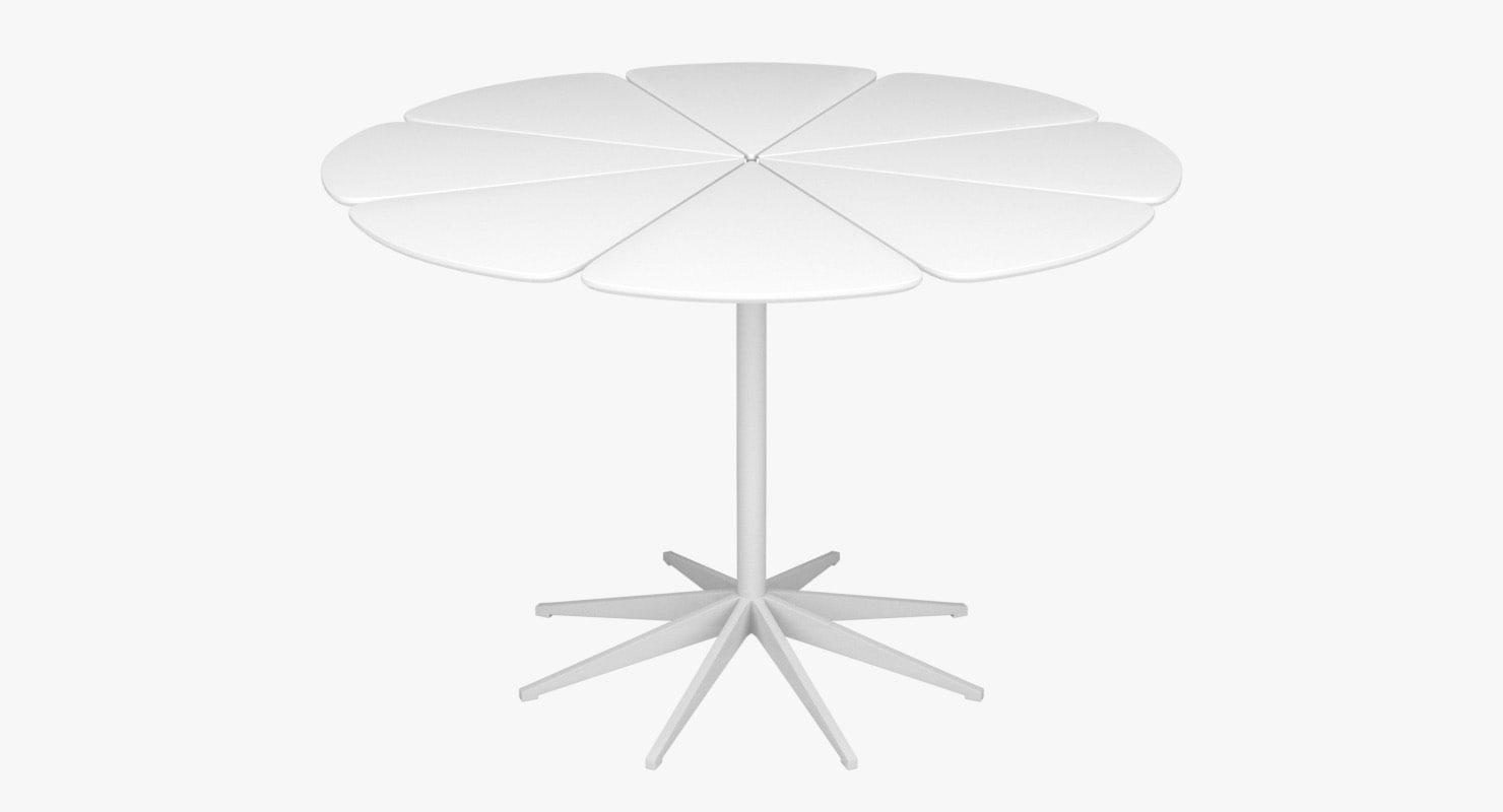 3d petal dining table