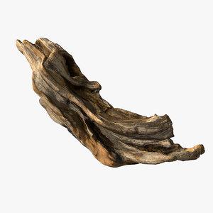 wooden snag 3d max
