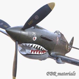 aircraft pbr p-40 usa 3d 3ds