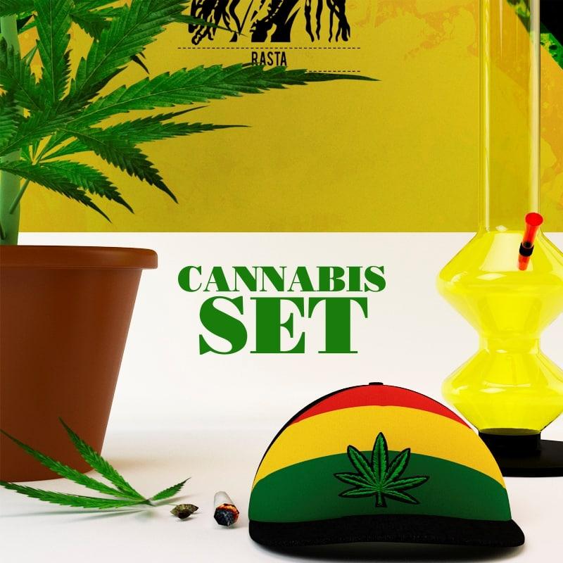 3d marijuana model