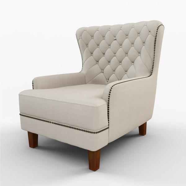 gaines chair 3d model