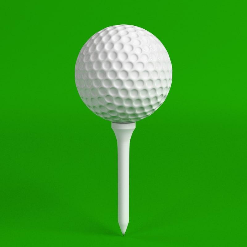 golf ball tee set 3d model