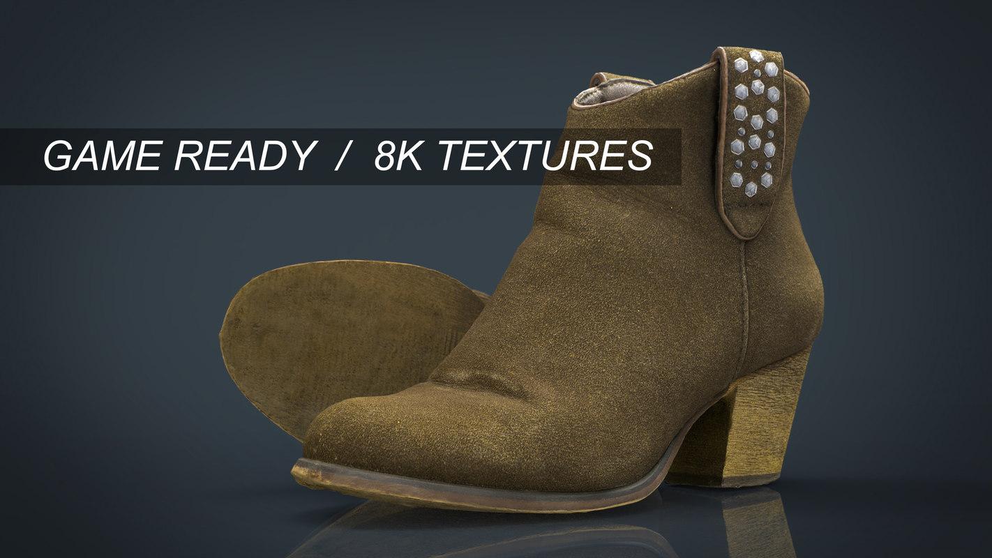 hd boots 3d model