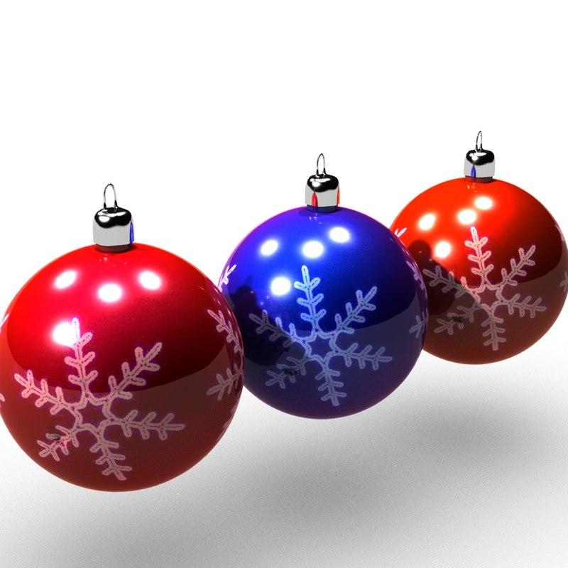 xmas balls 3d model