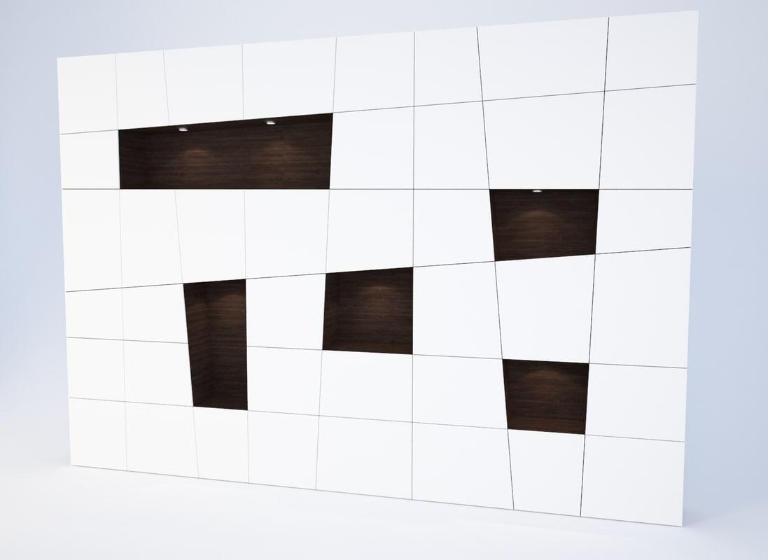 contemporary bookcase 3d model