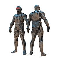 3d future ninja model
