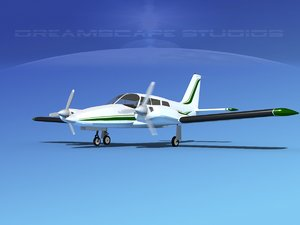dxf propeller pa-34 seneca