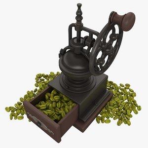 coffee beans green 3d model