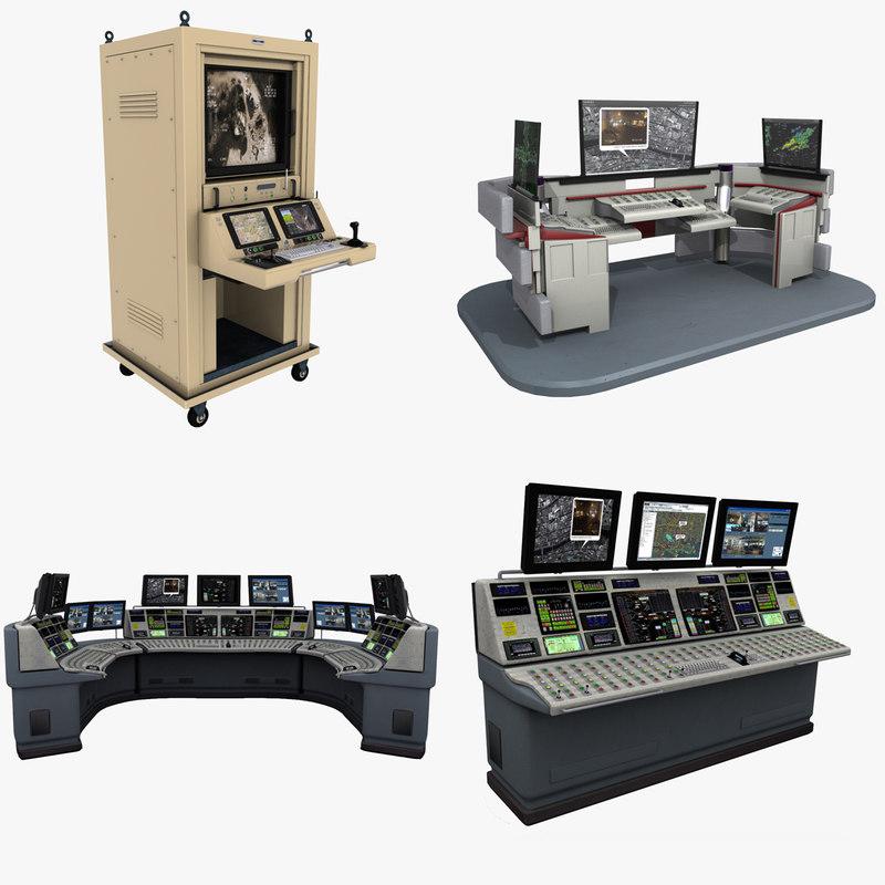 3d model control desks