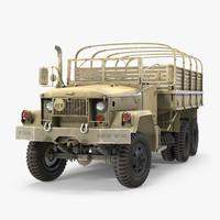 cargo truck m35 desert 3d model
