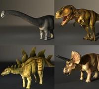3d model apatosaurus stegosaurus tyrannosaurus