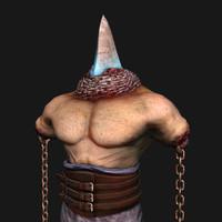 undead gladiator 3d obj