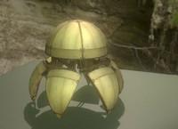 blend sphere bot wood