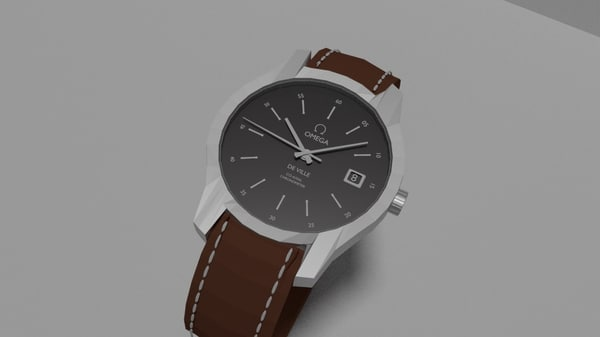 branded watch clock 3d model