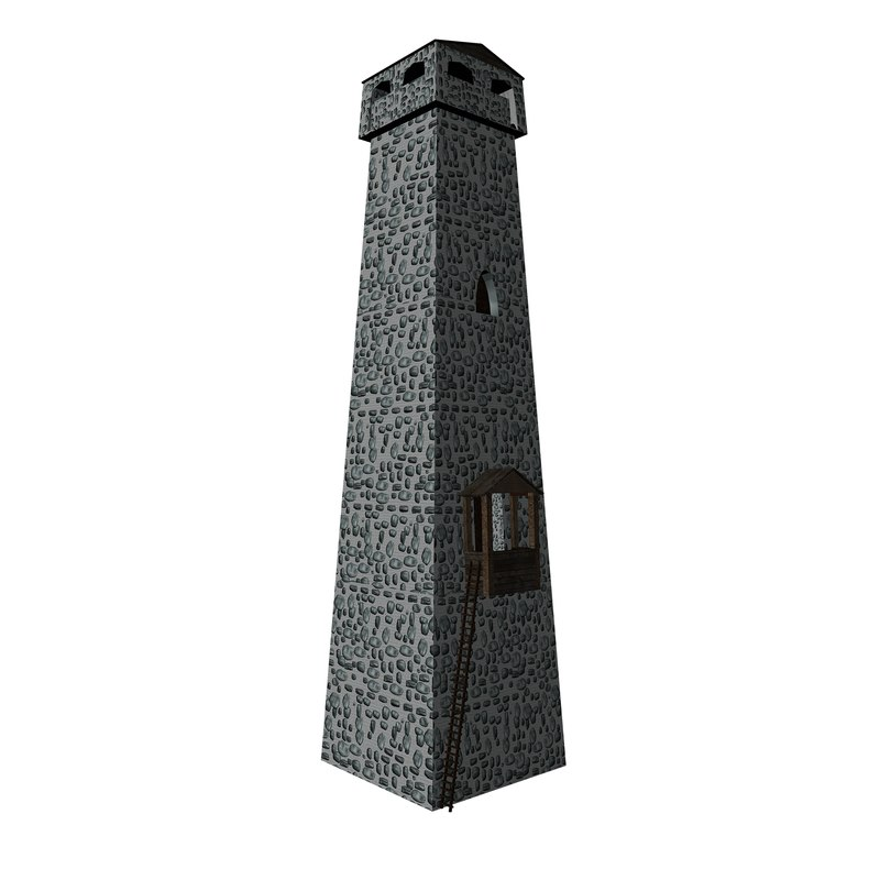 3d model of georgian tower