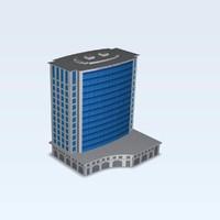 buildings daeha business center 3d obj